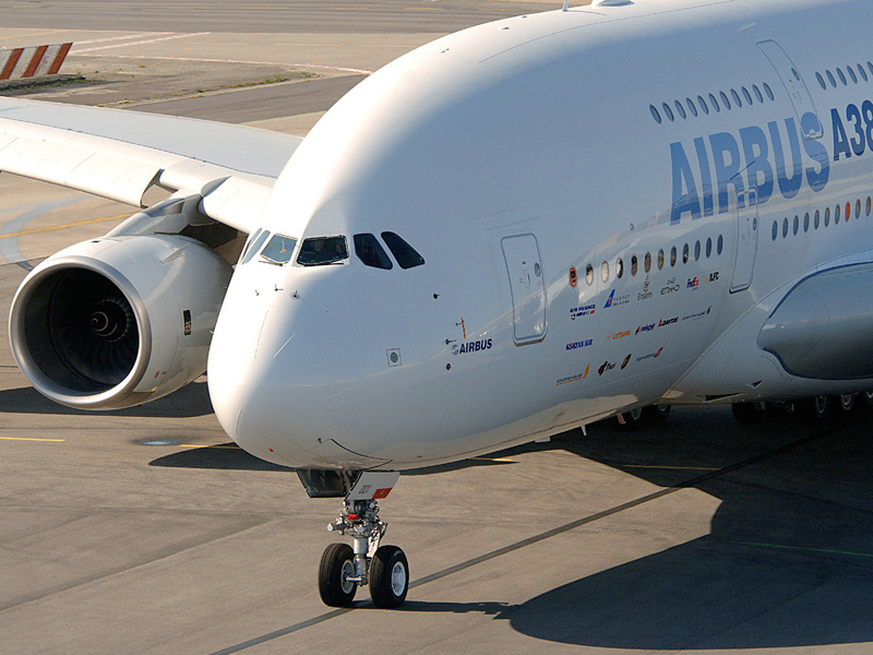 massive A380 superjumbo
