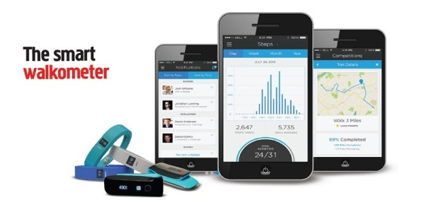 Slim Pedometer Fitness Tracker