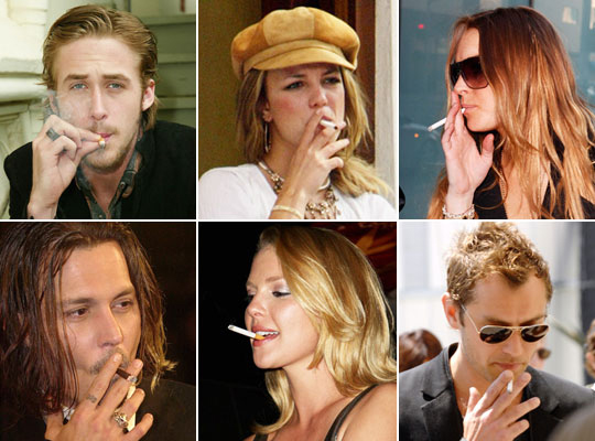 Millions of Celebrities Still Can't Quit Kick the Smoking Habit
