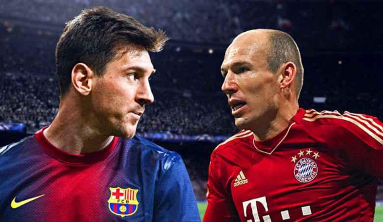 Lionel Messi and Arjen Robben