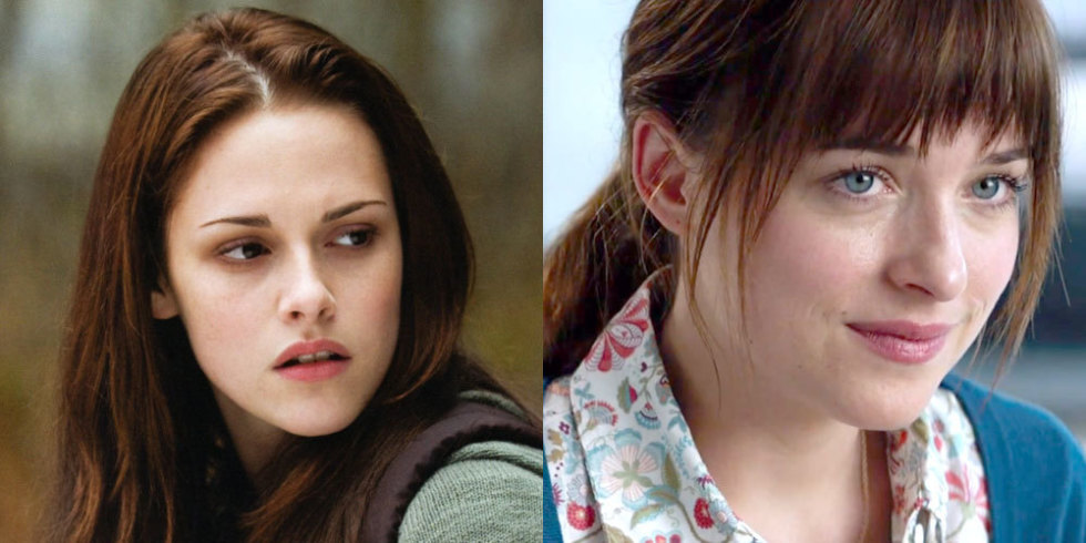 Kristen Stewart as Bella vs. Dakota Johnson as Anastasia