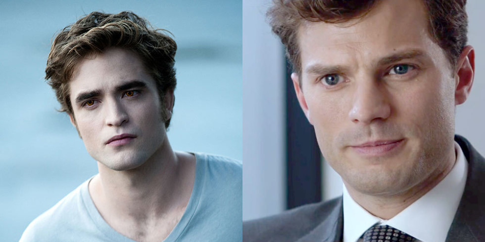 Robert Pattinson as Edward Cullen vs. James Dornan as Christian Grey
