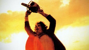TEXAS CHAIN SAW MASSACRE 1974 film starring Gunnar Hansen as Leatherface