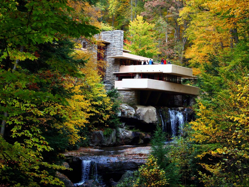 Frank-Lloyd-Wrights-residential-masterpiece-Fallingwater-is-nestled-in-Stewart-Township-Pennsylvania-