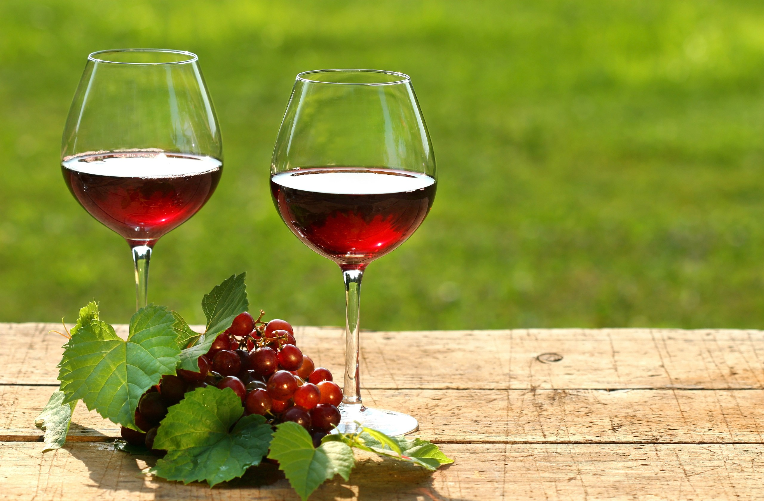 Red Wine on Summer Day