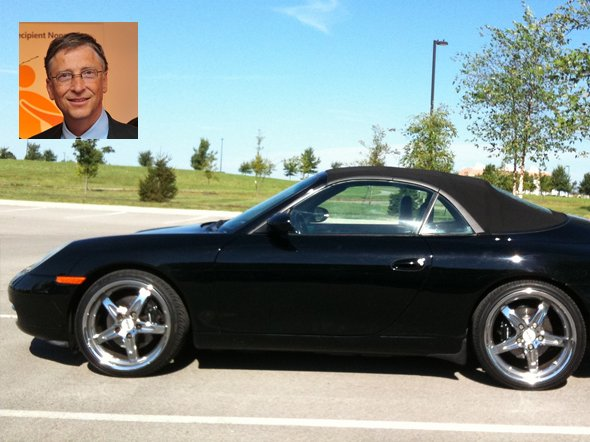 3 Bill Gates' 911 Porsche Convertible