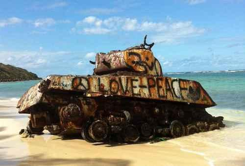 Tanks — Playa Flamenco, Culebra, Puerto Rico