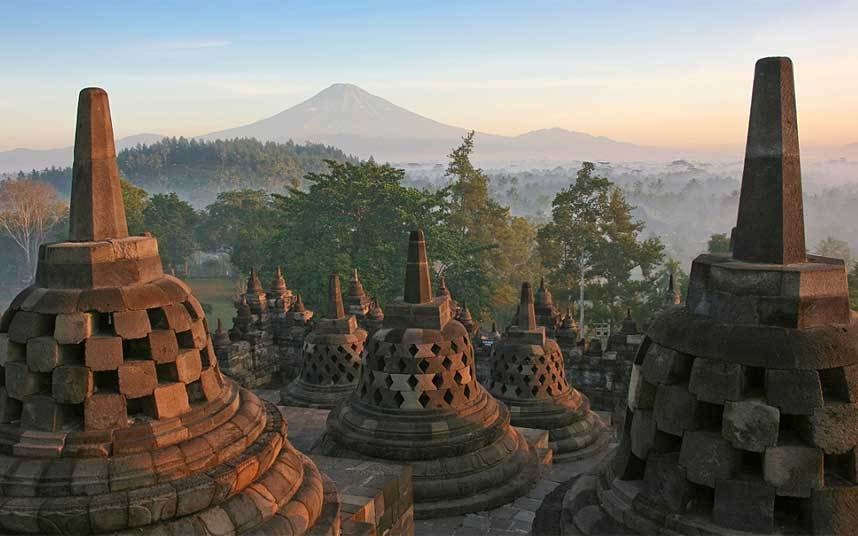 Borobudur is a Buddhist Temple in Indonesia