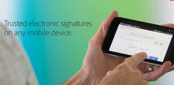 EchoSign e-signatures