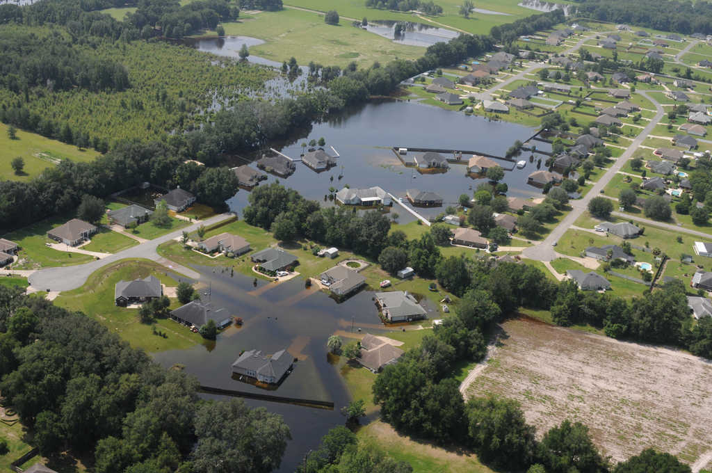 Flooded Homes in Columbia County, Florida