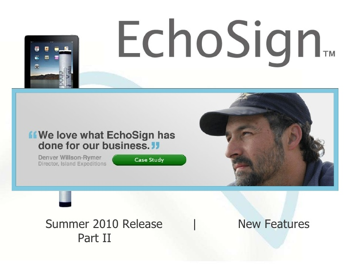 EchoSign's e-signature
