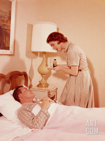 h-armstrong-roberts-woman-carrying-tray-of-medicine-to-sick-husband-in-bed_i-G-56-5634-2LEMG00Z