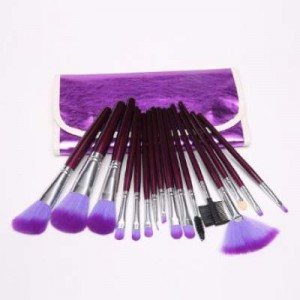 Dragonpad 16pc Professional Cosmetic Makeup Brushes With Purple Bag Case
