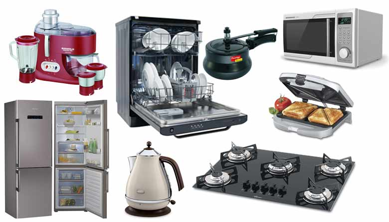 kitchen appliances list microwaves toast maker cooktops more