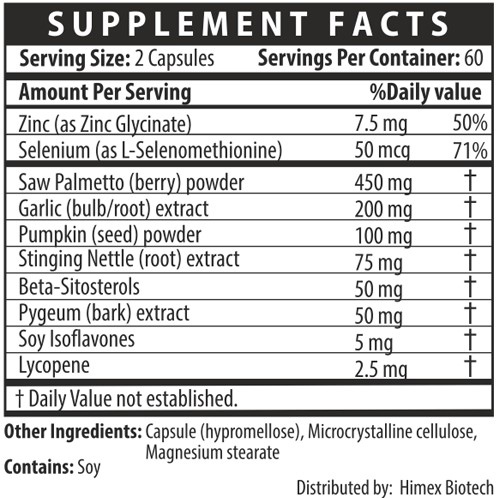 Prostara Supplement Facts