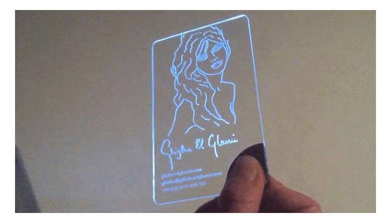 Invisible Business Cards