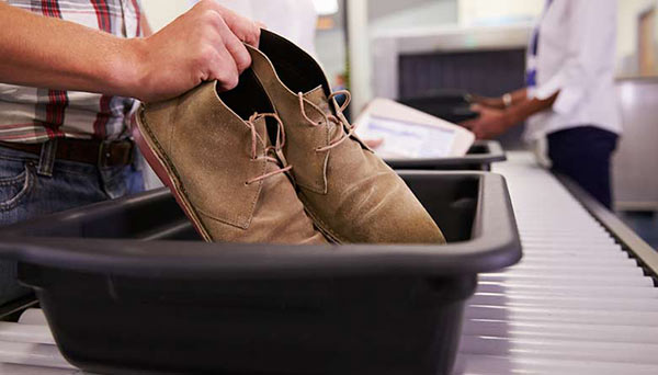 Shoes at Security