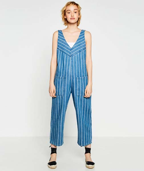 Cooperative Harley Denim Halter Jumpsuit