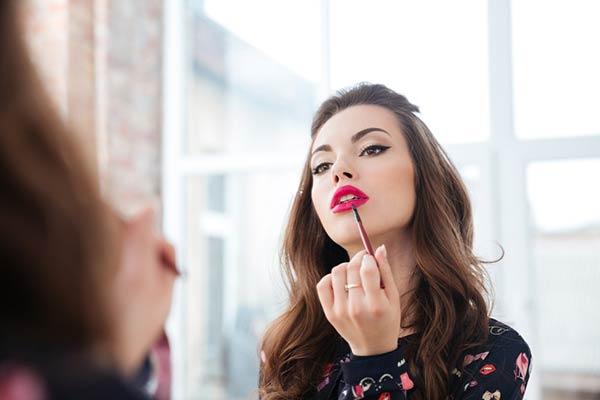 Powder Blush After Lipstick