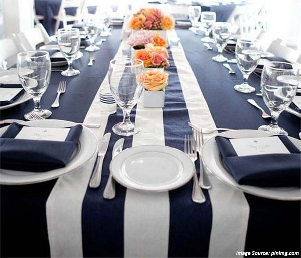 Boxwood Linen Sunset Stripe Table Runner