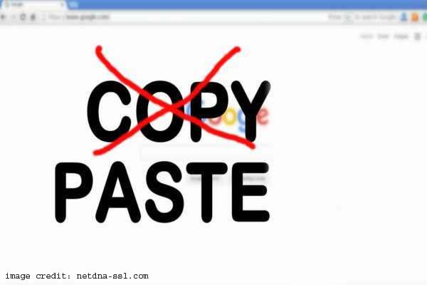 Copy and Pasting