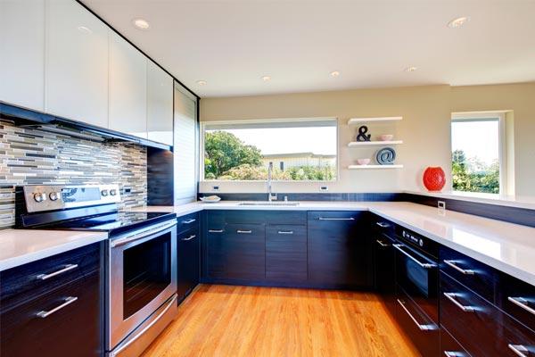 Black On Kitchen Cabinet