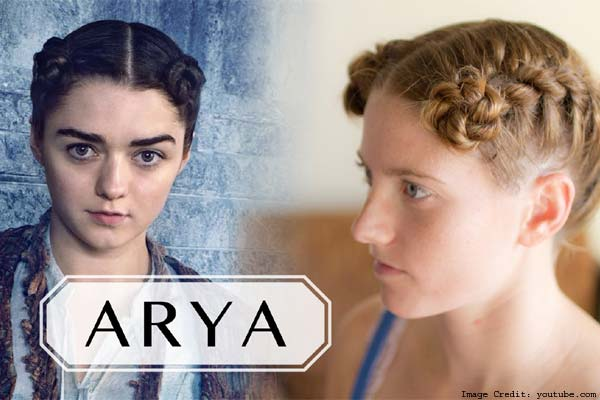 Arya's Interweaved Hair