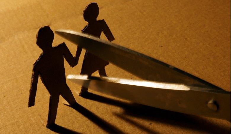 Figures Couple Paper Scissors