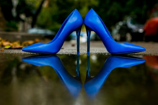Blue High Heels Shoes Pump Bride