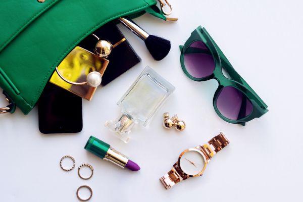Top View Female Fashion Accessories Green