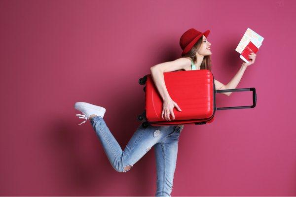 Woman Traveler Suitcase