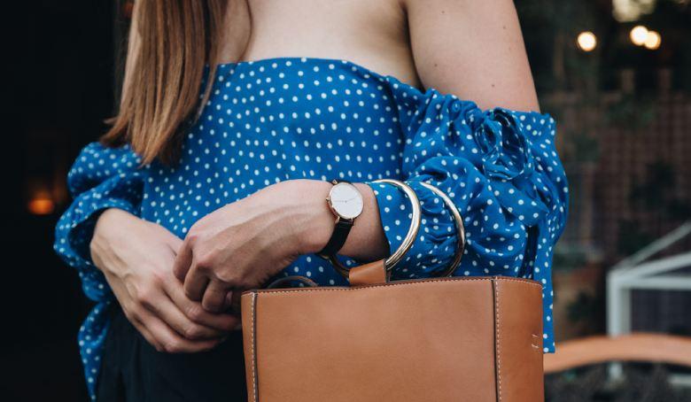 Woman Wearing Blue