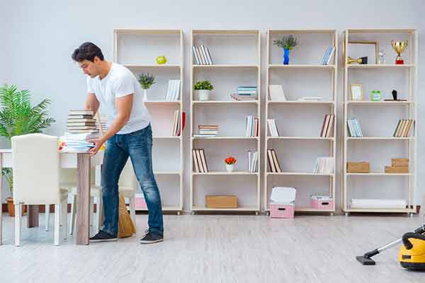 bookshelf organization