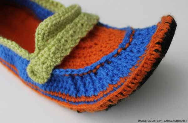 orange-and-blue-crochet-slippers