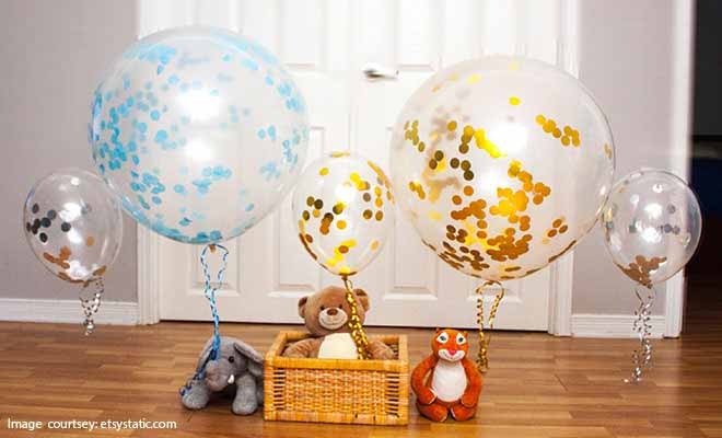 confetti filled balloons