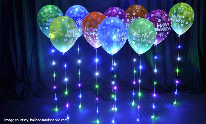 led balloon decoration