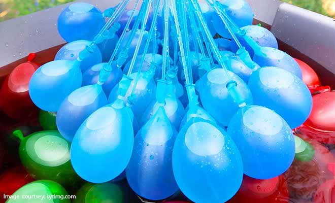 water balloon ice bucket